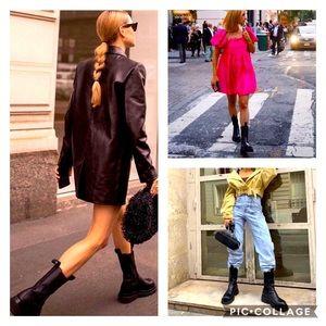 H&M high profile platform chelsea boots blogger